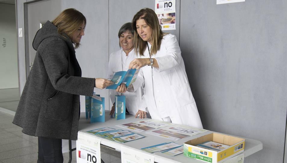 Imatge de la campanya informativa a l'Hospital de Reus