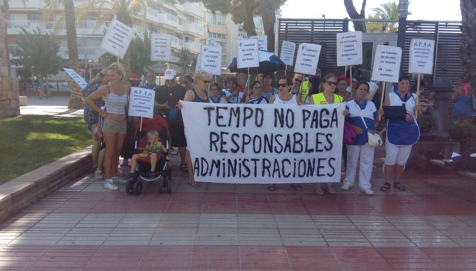 Imatge de les protestes dels treballadors de Tempo