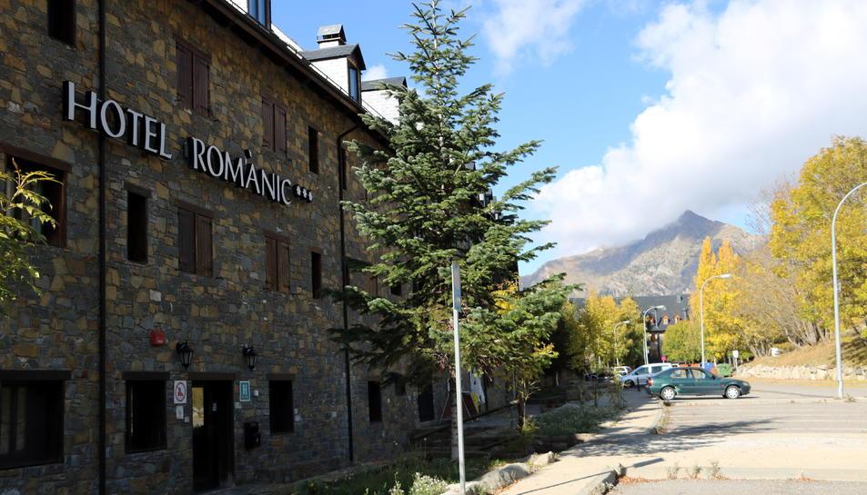 Pla general d'un dels hotels del Resort del Pla de l'Ermita, a l'Alta Ribagorça.