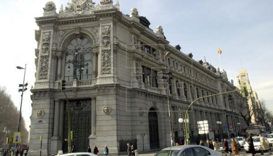 Edifici del Banc d'Espanya a la plaça de Cibeles.
