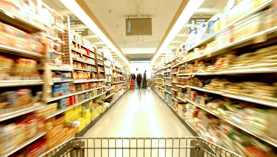 Imatge d'arxiu d'un supermercat