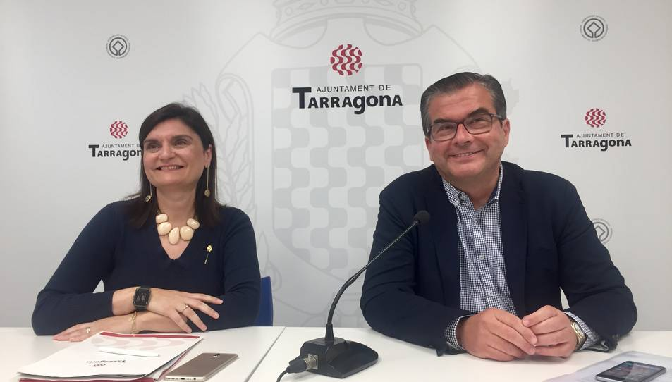 Imatge del grup municipal del PP a Tarragona durant la roda de premsa