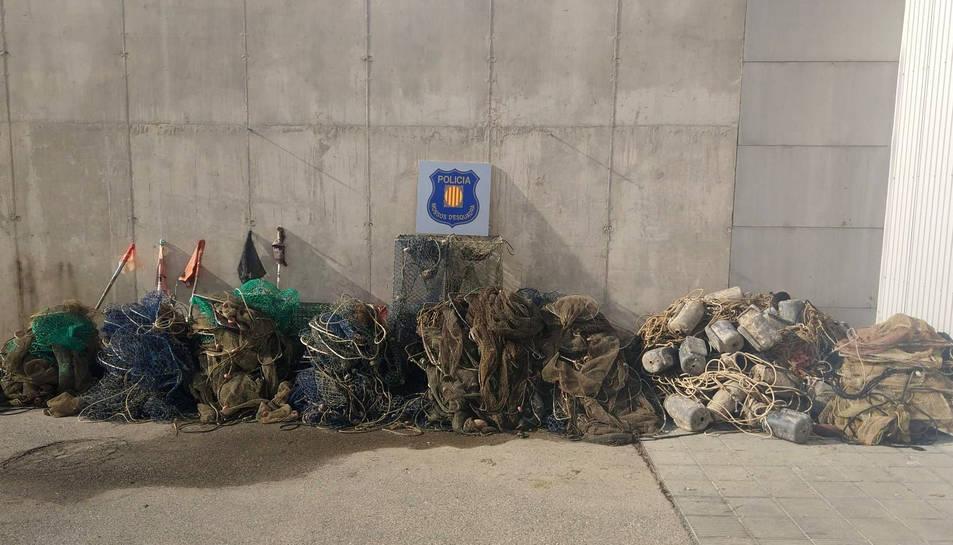 Imatge del material comissat pels Mossos