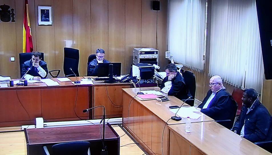 Imatge del moment de la lectura del veredicte