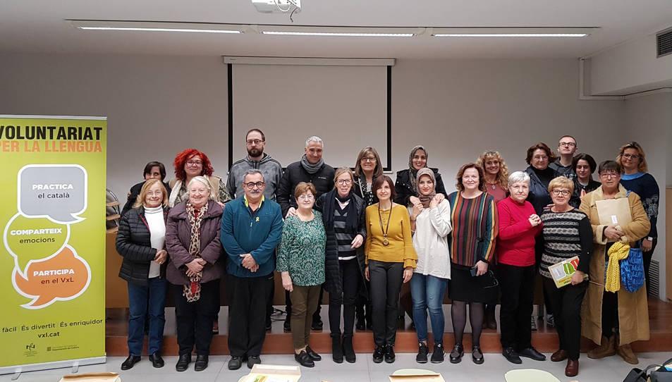 Imatge dels participants en el Voluntariat per la Llengua