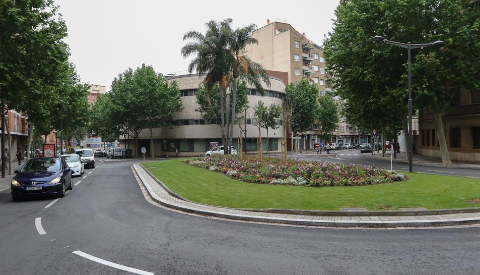 Una imatge d'arxiu de la rotonda, que es va reformular al 2018.