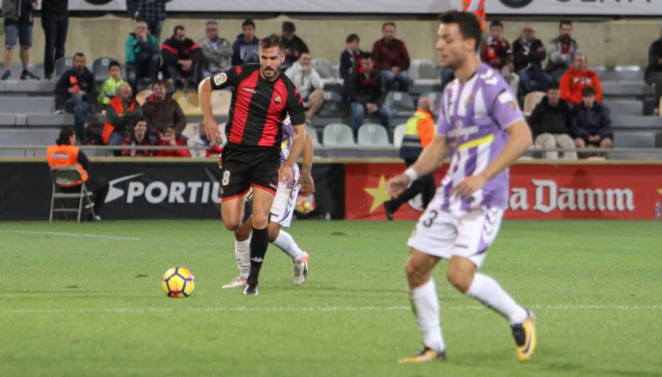 Pichu Atienza en el partit entre el Reus i el Valladolid que està sent investigat.