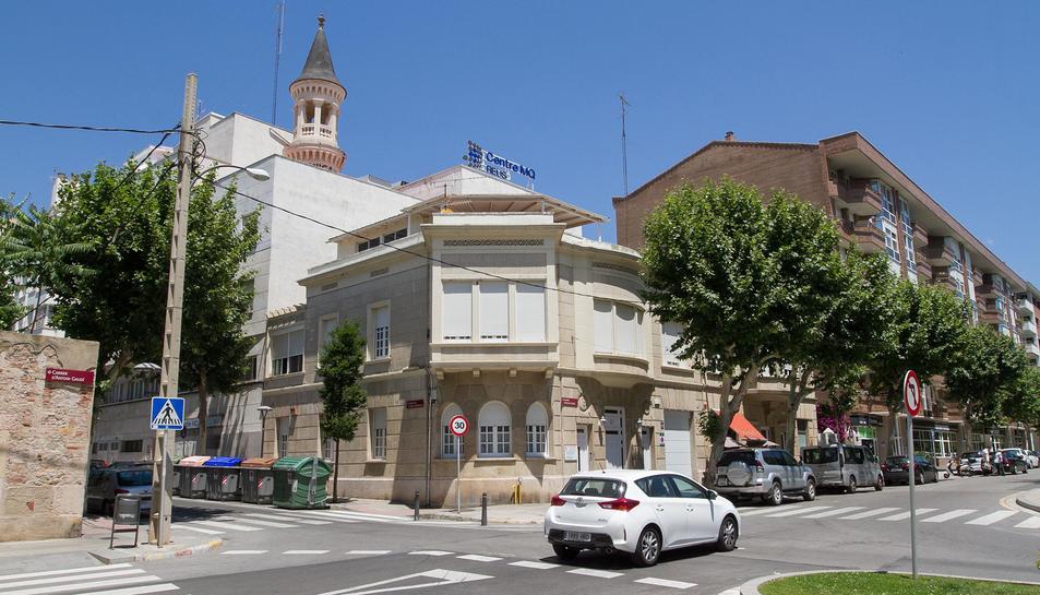 Una imatge d'arxiu de l'exterior de l'antiga Clínica Fàbregas.