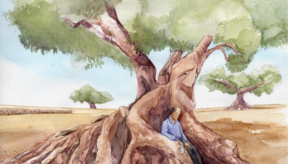 Il·lustració de Silvia Franzher amb els dos protagonistes de la història.