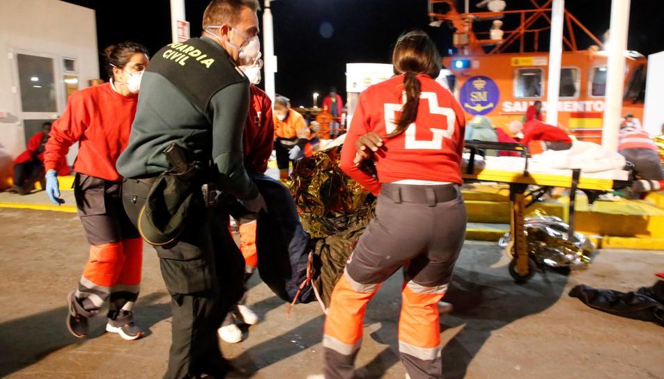 Imatge d'arxiu d'un rescat a Melilla.
