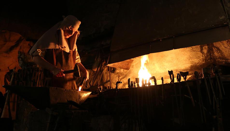 Imatge del forjador del Pessebre Vivent de l'Espluga.
