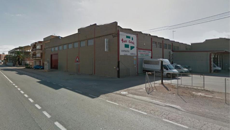 Imatge del magatzem on se situava la Cooperativa de l'Aldea