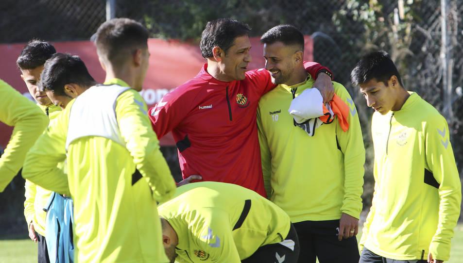 Javi Márquez va reincorporar-se amb el grup en la primera setmana d'entrenaments amb Toni Seligrat.