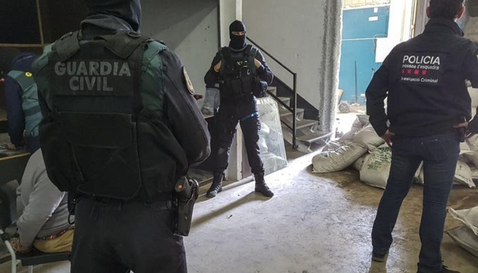 En l'operatiu participen Mossos i Guàrdia Civil.