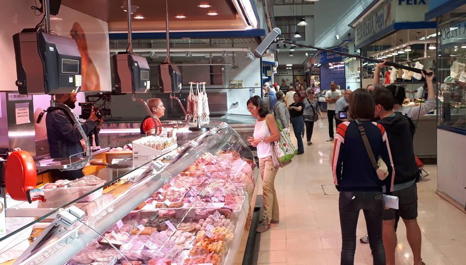 Imatge d'un moment de la gravació del programa al Mercat Central de Reus