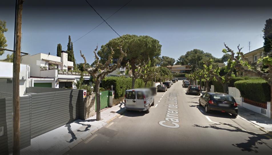 Imatge d'un dels carrers afectats per l'avaria