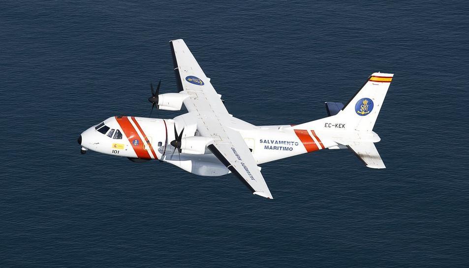 Imatge d'arxiu de l'avió SASEMAR 101que sobrevola la zona del Delta de l'Ebre.
