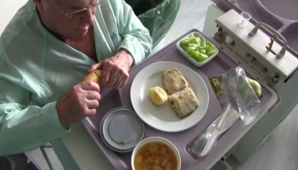 Imatge d'un pacient menjant