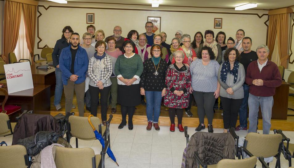 Representants de les entitats que van rebre el reconeixement municipal.