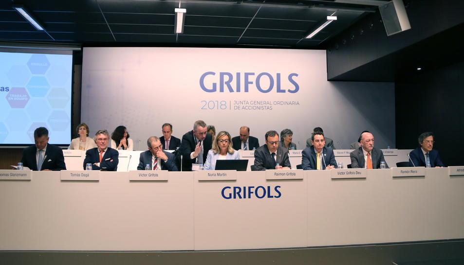 Imatge d'arxiu de la junta general d'accionistes de Grifols.