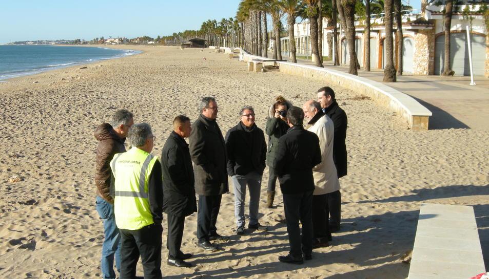 El subdelegat del Govern a Tarragona, Joan Sabaté, ha visitat les obres d'emergènci