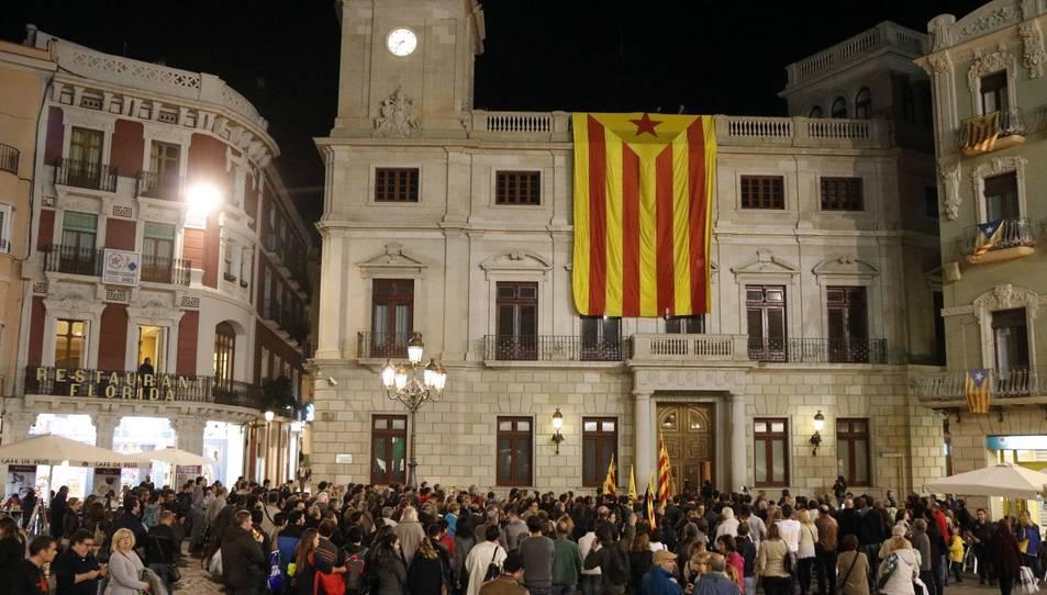Imatge de l'Ajuntament de Reus amb l'estelada