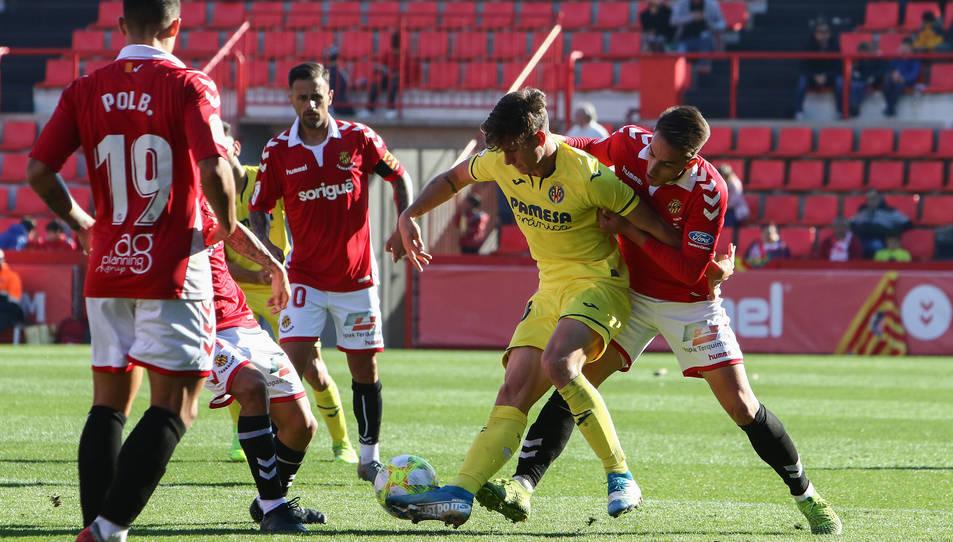 Els jugadors grana van pressionar els rivals intensament durant els 90 minuts.