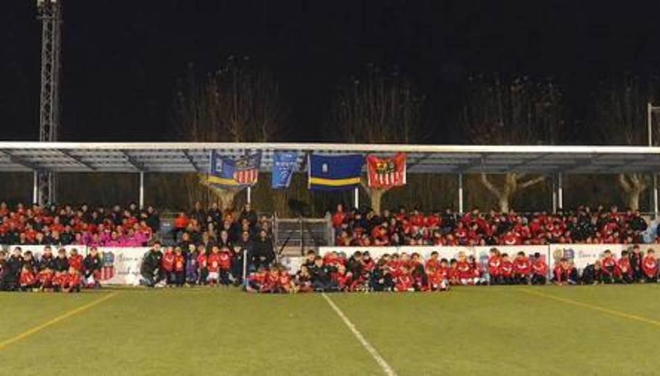 Els més de 250 futbolistes que formen part de l'UD Salou