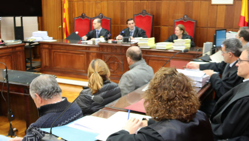 Imatge dels acusats durant el judici