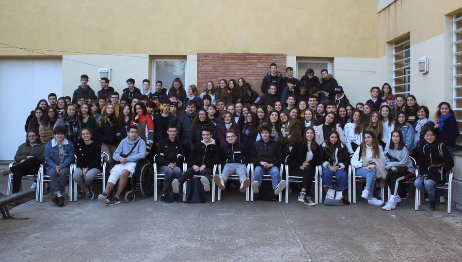 Imatge de la trobada dels alumnes a Reus