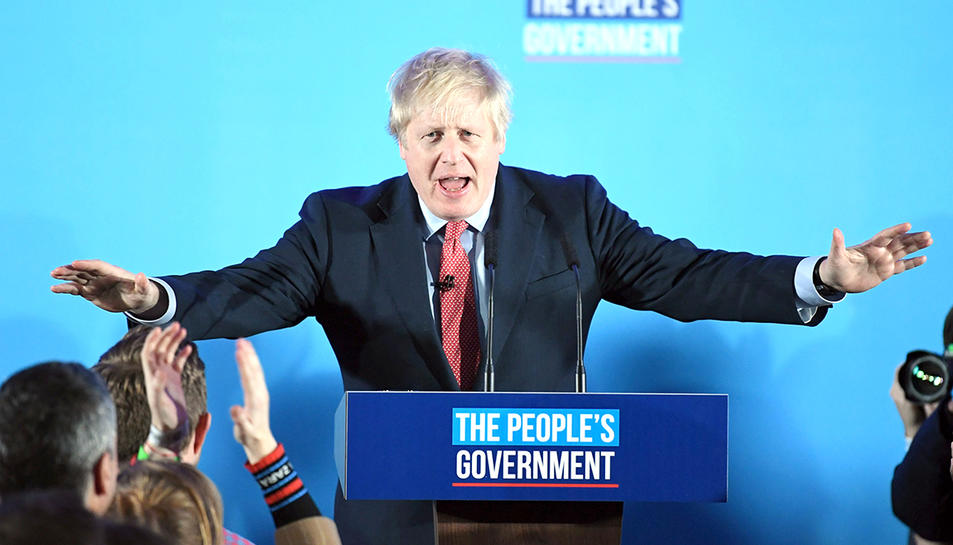 Boris Johnson, elprimer ministre britànic ha aconseguit una majoria folgada a les eleccions.