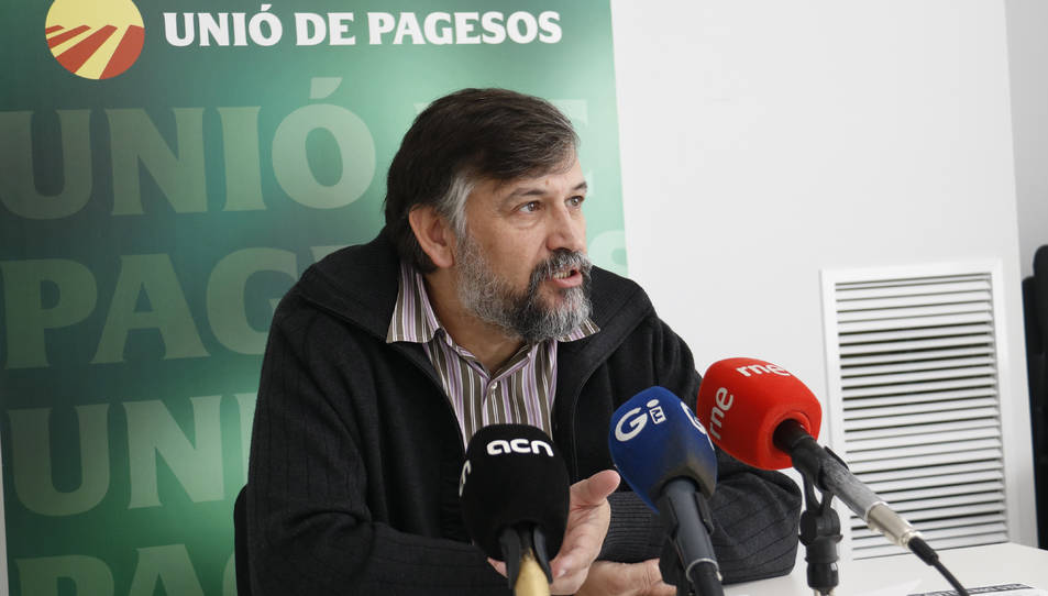 Imatge del coordinador nacional d'Unió de Pagesos, Joan Caball