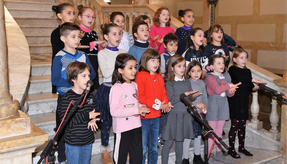 Actuació de la coral de l?Escola Municipal de Música de Tarragona.