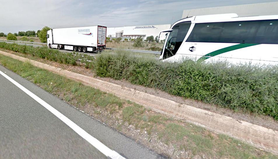 Imatge d'arxiu de l'autopista AP-7 al seu pas per les Terres de l'Ebre.