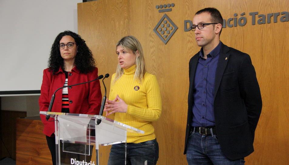 La presidenta de la Diputació de Tarragona, Noemí Llauradó, durant la presentació del PAM 2019-2023.
