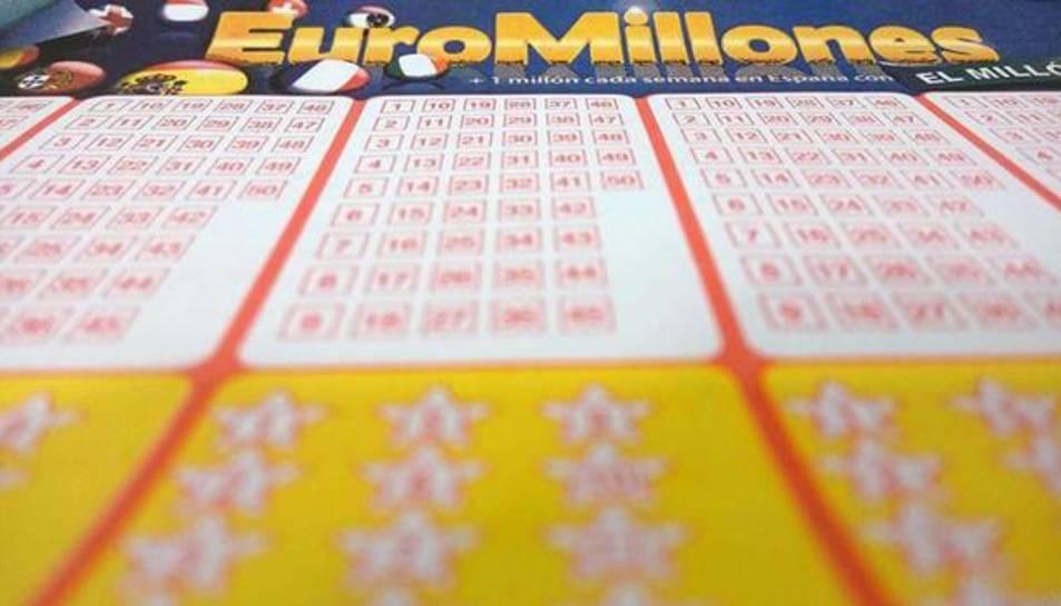 Imatge d'un bitllet de l'Euromillones