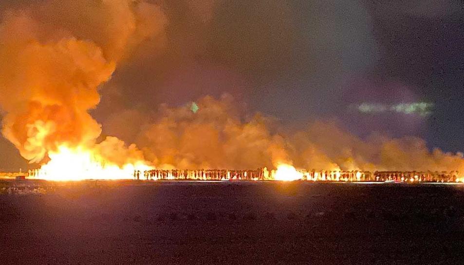 Imatge de la matinada de l'incendi de les palmeres.