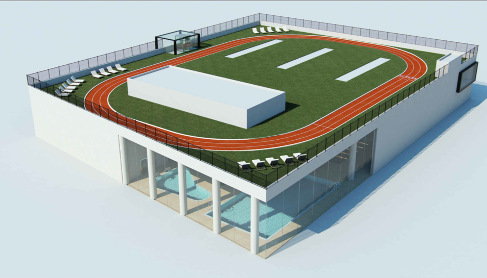 Imatge de la recreació de les noves instal·lacions esportives.