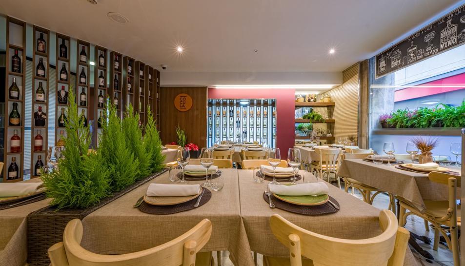 Imatge de l'interior del restaurant Cócula.