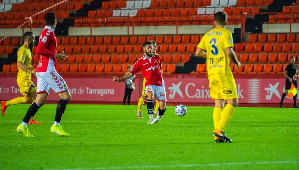 Lolo Plá en el partit de Copa del Rei disputat al Nou Estadi contra l'Olot el passat mes de desembre.