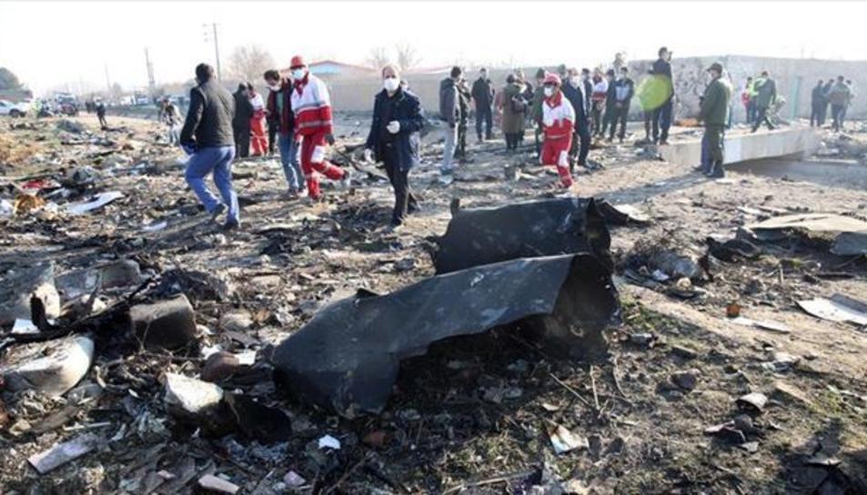 L'aeronau sinistrada és un avió Boeing 737 de l'aerolínia Ukraine International Airlines que va enlairar des de Teheran amb destinació a Kíev.