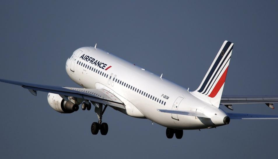 Imatge d'un avió d'Air France.