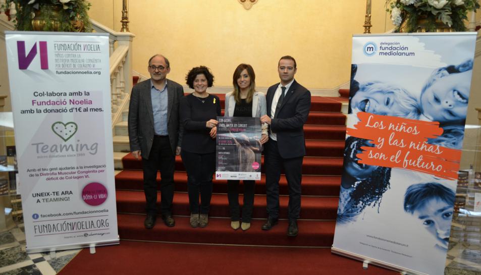 Imatge de la presentació del concert solidari.