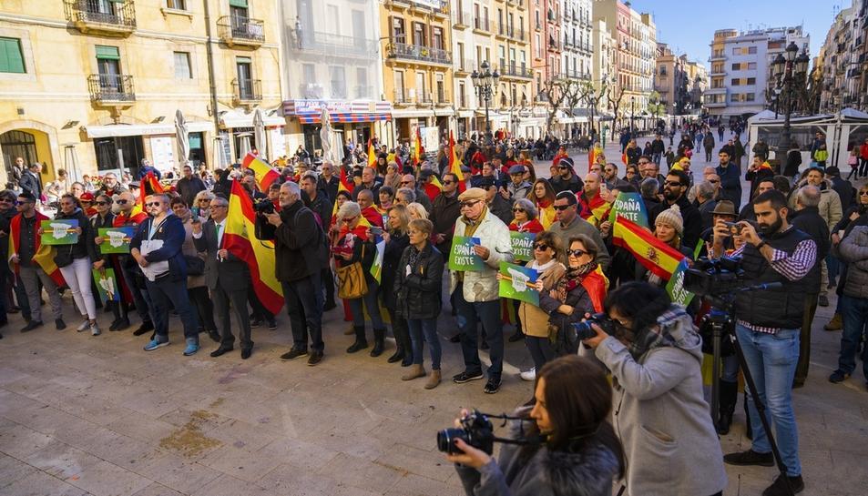 Manifestació de VOX a la Plaça de la Font
