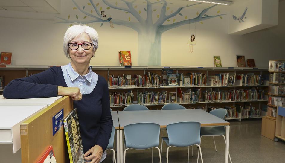 La directora de la Biblioteca, el passat dijous, a Cambrils.