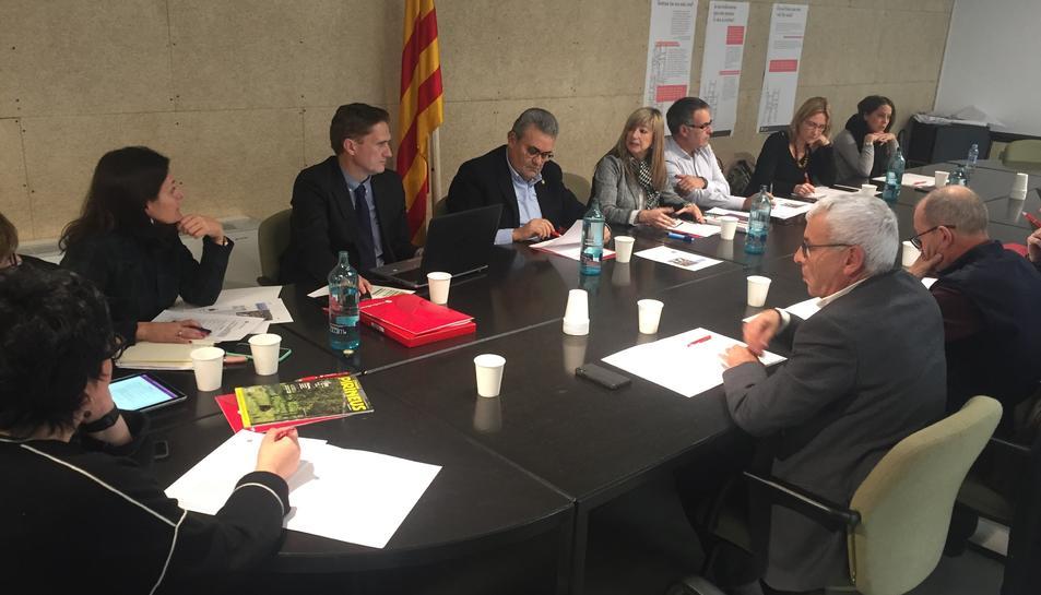 Imatge de la sessió del Comitè Executiu de la Cambra de Reus que s'ha celebrat avui al Consell Comarcal de la Ribera d'Ebre.