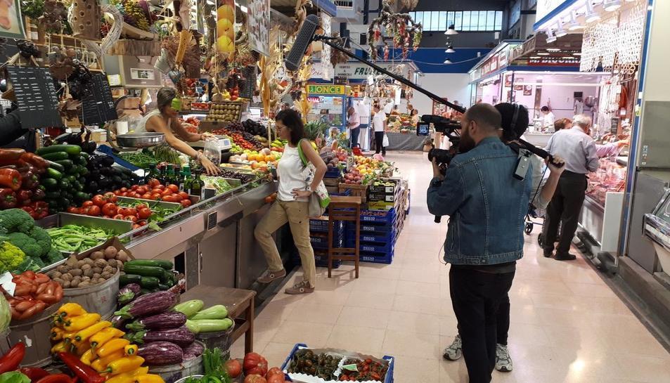 A Reus la gravació de 'Gent de mercats' es va fer durant el mes de juny.