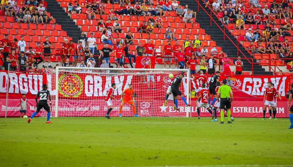 El duel disputat entre l'Andorra i el Nàstic al Nou Estadi.