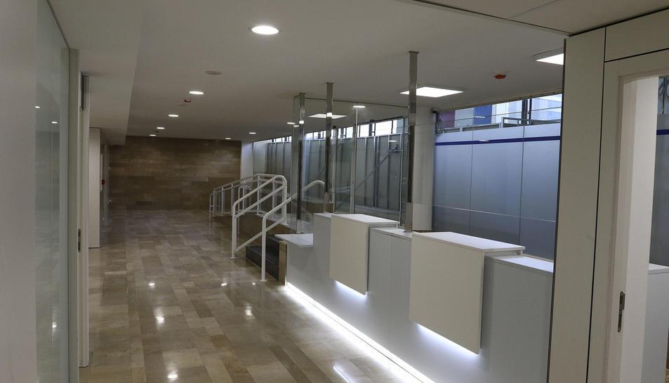 L'interior reformat de l'antic hospital on s'ubicarà part del CMQ.