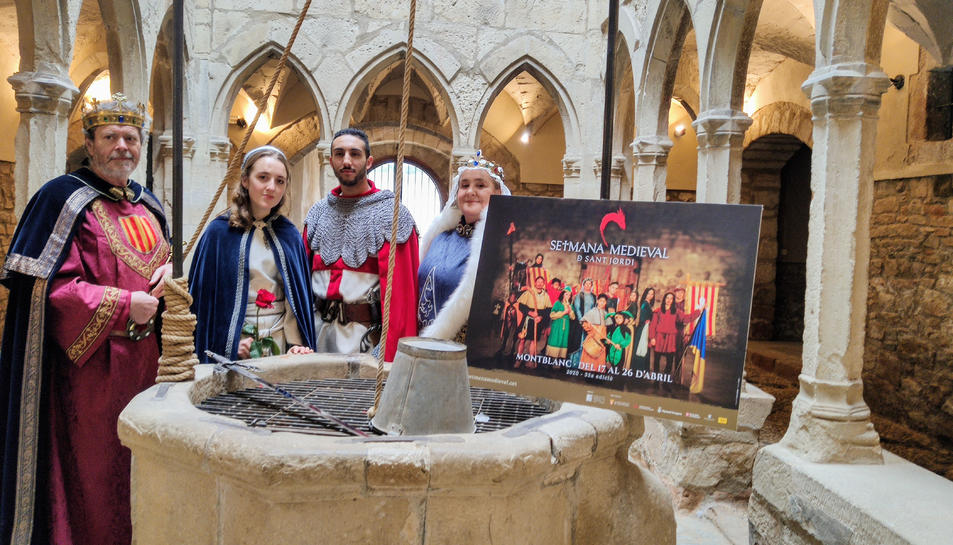 Els nous personatges protagonistes de la 33a edició de la Setmana Medieval de Montblanc.